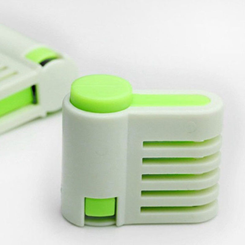 5 Levers Cutting Bread Knife Splitter Toast Slicer 2 Pieces 5 Layers Bread Slicer Food-Grade Plastic C Ake Bread Cutter