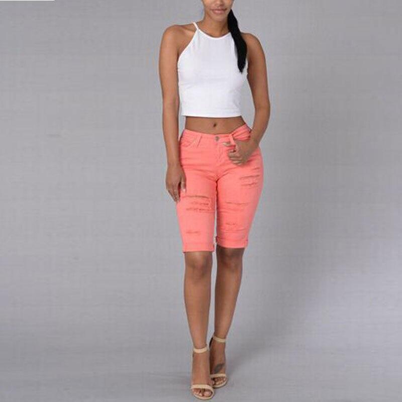 Capri de Mezclilla Skinny Jeans Capris De Las Mujeres
