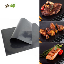 YOTOP 1Pcs BBQ Grill Mat For Barbecue Grill Sheet Cooking And Baking Microwave Reusable Outdoor Picnic Cooking Tools