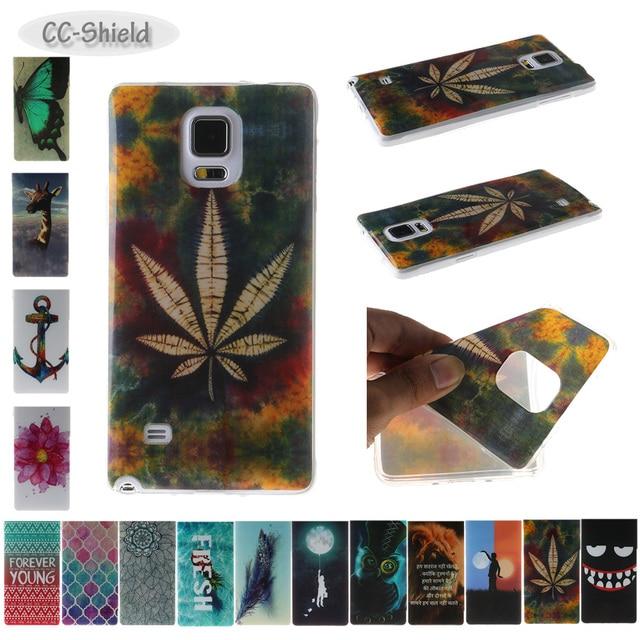 TPU Soft Case for Samsung Galaxy NOTE 4 NOTE4 SM N910F N910V N910T SM-N910F SM-N910V SM-N910T SM-N910U Painting IMD phone case