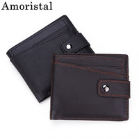 Men's Wallets Genuine Leather Wallet Men Fashion Casual Small Vallet With Coin Purse Pockets Slim Rfid Fashion Mini Walet B498