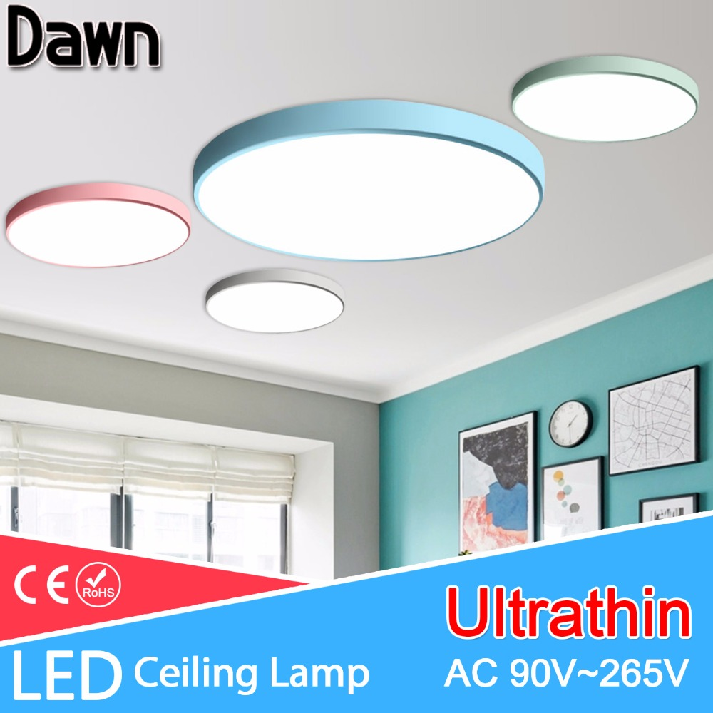 Ceiling Lights & Fans Led Ceiling Light Modern Panel Lamp Lighting Fixture Living Room Bedroom Kitchen Surface Mount Flush Remote Control Crazy Price