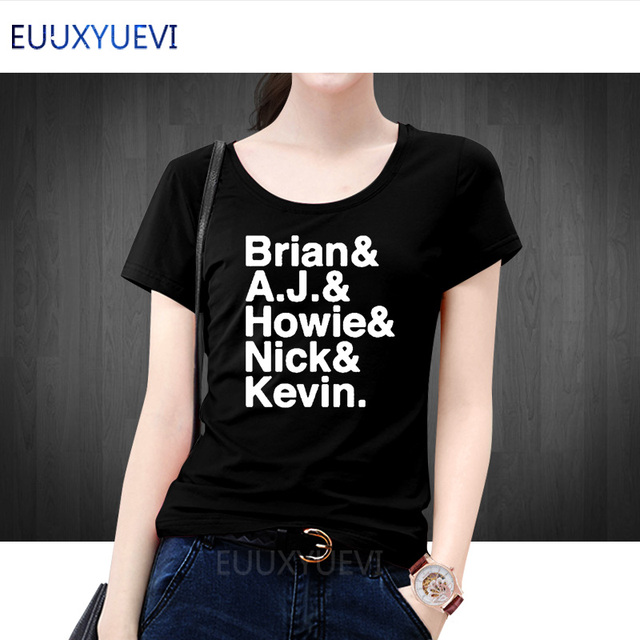 787e1c4a Backstreet Boys T-Shirt Women Casual Short Sleeve Nick Carter Kevin  Richardson AJ McLean Letter