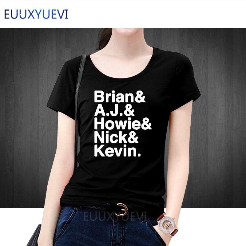 Backstreet Boys T-Shirt Women Casual Short Sleeve Nick Carter Kevin Richardson AJ McLean Letter Printed T Shirt Femme