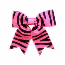 200pcs lot 3 inch Hot Pink Zebra Pattern Boutique Hair Bow for Adult Girl