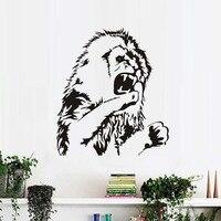 巨大なモンスターライオンアフリカ動物ビニールウォールステッカーaficaライオンヘッドルーム壁のステッカーリムーバブル寝室ウォールカバーリングホームインテリ