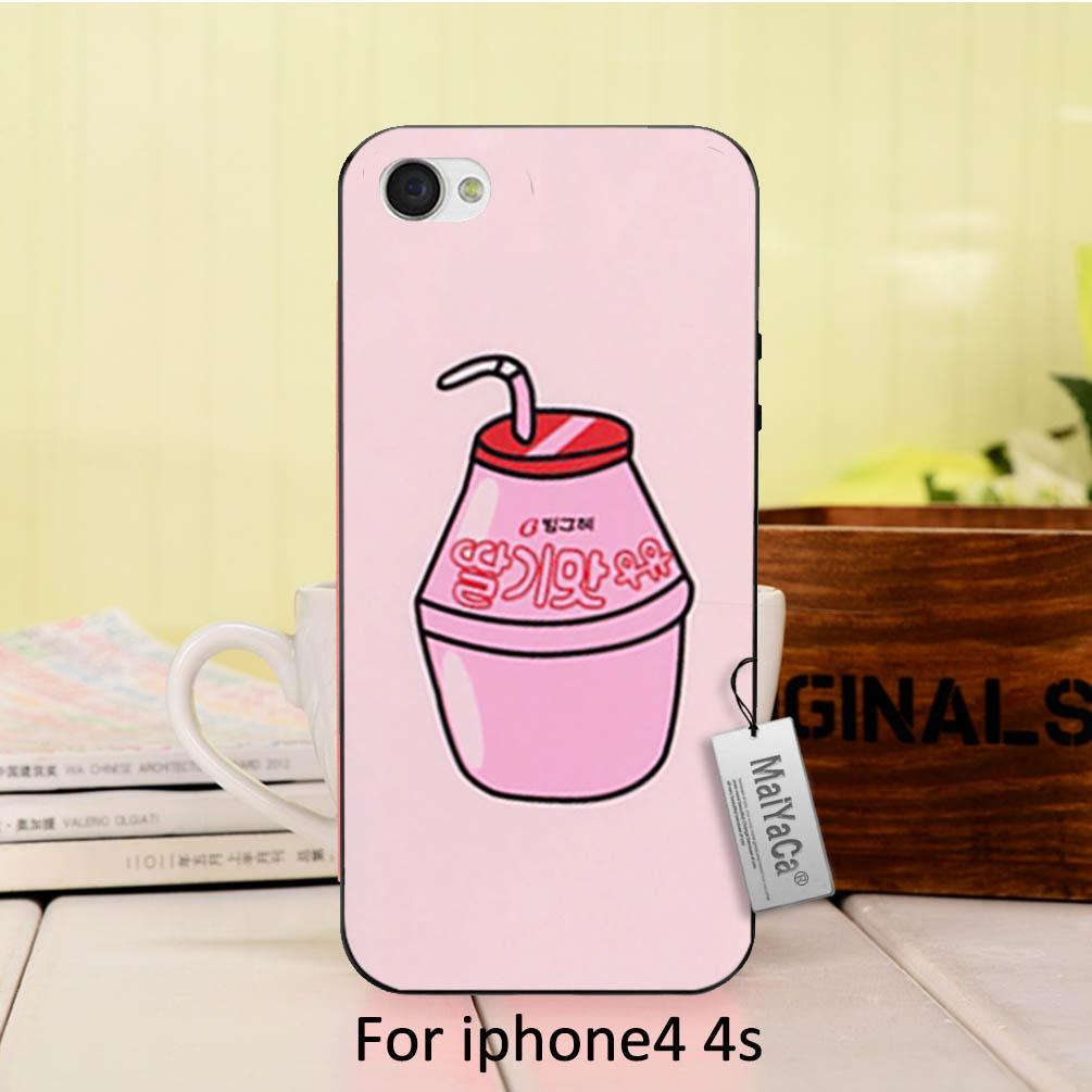 MaiYaCa Cute Milk Box DIY Painted Beautiful phone Accessories For iPhone 4  4s case af94fcf16e1de