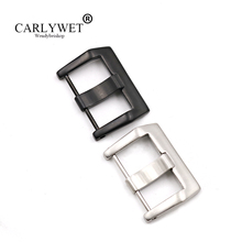 CARLYWET 24mm Wholesale High Quality 316L Stainless Steel Watch Band Strap Belt Pre V Screw Pin Buckle For Bell&Ross