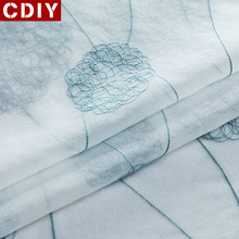 CDIY White Embroidered Sheer Window Curtains Tulle Curtains for Bedroom Living Room Kitchen Voile Curtains for Window Drapes cdiy tulle curtains for living room bedroom kitchen modern sheer curtains for window screening linen voile curtains drapes door