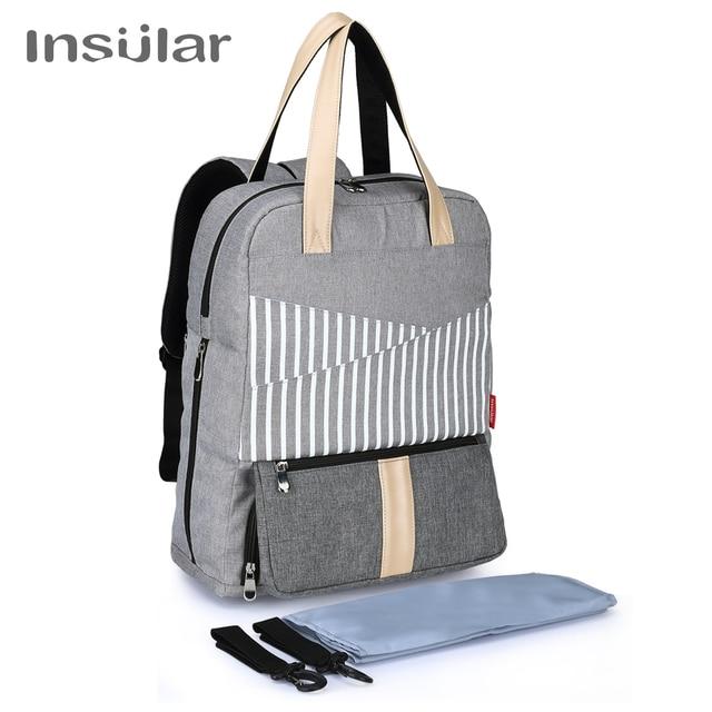 Insular New Capacity Mummy Maternity Bag Diaper Baby Multifunctional Nursing Men Laptop Travel Backpack