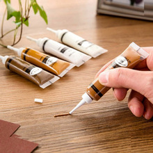 2Pcs Furniture Scratch Fast Remover Solid Wood Refinishing Paste Repair Paint Pen JDH99 18g beech furniture scratch remover floor repair paint for wood furniture refinishing