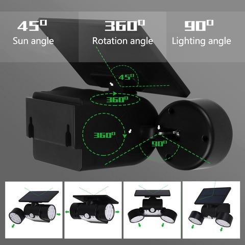 led solar lampada pir sensor de movimento