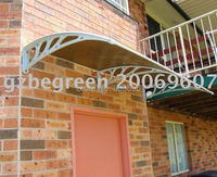 YP100240 100x240cm Canopy Awning Door Shelter Polycarbonate Awning Rain Shelter Door Canopy CE Certified