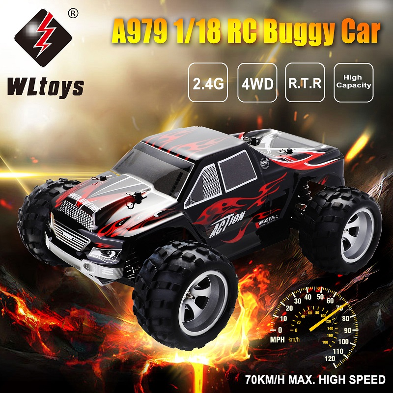 A979 1/18 гоночный автомобиль Внедорожный гоночный автомобиль 2,4 ГГц 4WD гоночный автомобиль с дистанционным управлением высокая скорость грузо... - 1