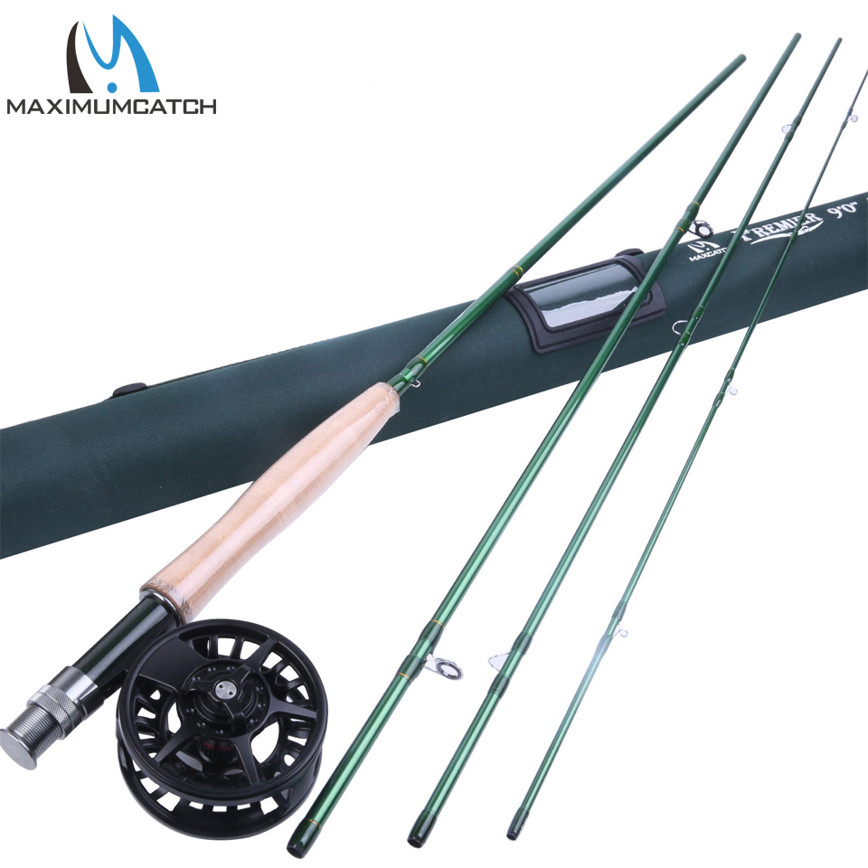 где купить Maximumcatch 5WT Fly Rod And Reel Combo 9FT Fly Fishing Rod & 5/6WT Aluminum Fly Reel по лучшей цене