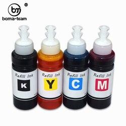 100ML 4 kolory farbowania Pigment tusz do epson WF-2850 WF-2835 WF-2830 WF-2810 XP-4101 XP-4100 XP-3105 XP-3100 XP-2105 XP-2100 drukarki