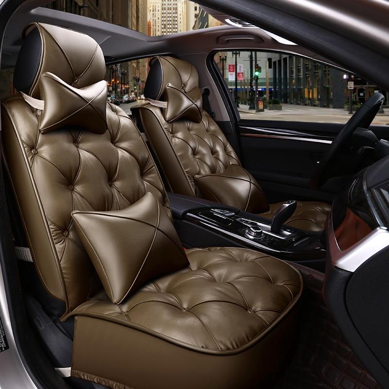Orange 3 Row SUV Split bench Car Seat Covers w Steering Wheel and Seat Belt Pads