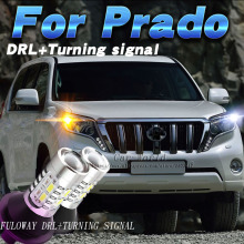 Фотография Fuloway Car-styling For Toyota Land Cruiser Prado LED DRL Daytime Running Lights Turning Signal Day Light DRL Accessories White