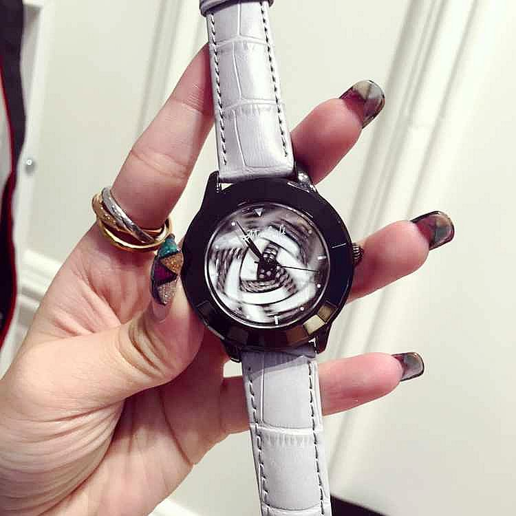 Luxury Brand Women Diamond Leather Quartz Watch Ladies Female Dress Wristwatch Rotatable Dial Clock Montre Femme Relojes Mujer
