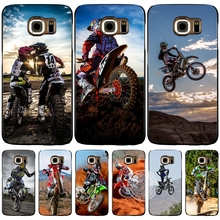 Motocross moto cross dirtbikes cell phone case cover for Samsung Galaxy S7 edge PLUS S8 S6 S5 S4 S3 MINI