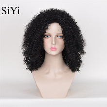 Peruca Cosplay Long kinky Curly Black Synthetic Wigs Cheap Wigs For Black Women Cheap Good Quality Rosa Hair Product Body Wave