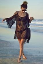 Saida De Praia Beach Cover Up Pareo Playa Coverup Dress Vestido Livre Swimsuit Wear Swimwear Lace Women Beachwear