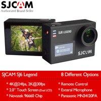 מקורי SJCAM SJ6 מקרא 4 K 24fps פעולת Wifi מצלמה 16MP ג 'יירו 2.0 מגע LCD תצוגה כפולה עמיד למים חיצוני Mini ספורט DV פקה