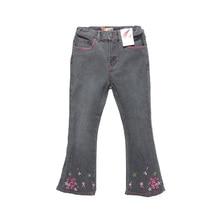 Enfants Europe et en amérique évasée pantalons 2016 bébé filles Jeans marque mode automne 4-7Yrs enfants pantalons