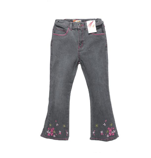 Crianças Na Europa e América calças Queimado 2016 4-7Yrs Crianças Calças Do Bebê Meninas Marca de Jeans Da Moda Outono