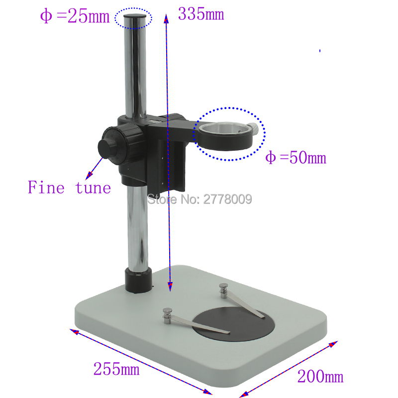 Industrial Microscope Fine - tuning Bracket 50MM Camera Lens Workstations Mobile Phone Motherboard Maintenance Testing Platform microscope accessories mobile 00 foot power dimming