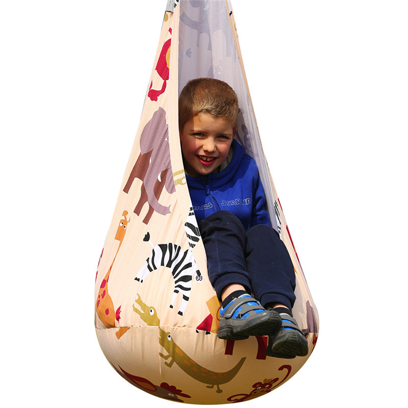 Children Pod Swing Chair Nook Hanging Seat Hammock Nest for Indoor and Outdoor Use Great for Children Kids 6 Colors children hammock swing chair indoor outdoor portable hanging pod seat toy for children kids boy girl christmas birthday gift