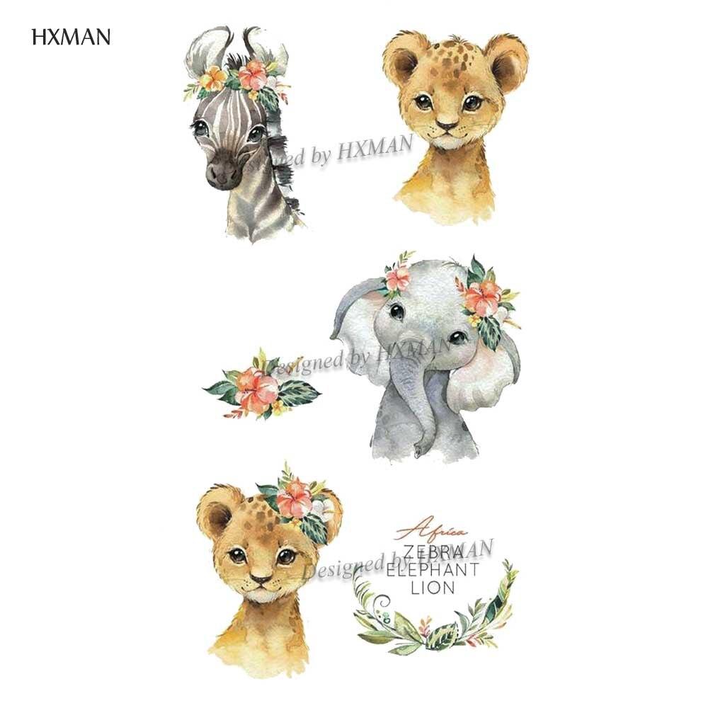 HXMAN Animals Women Temporary Tattoo Sticker Tattoos For Men Fashion Body Art Kids Children Hand Fake Tatoo 9.8X6cm A-226