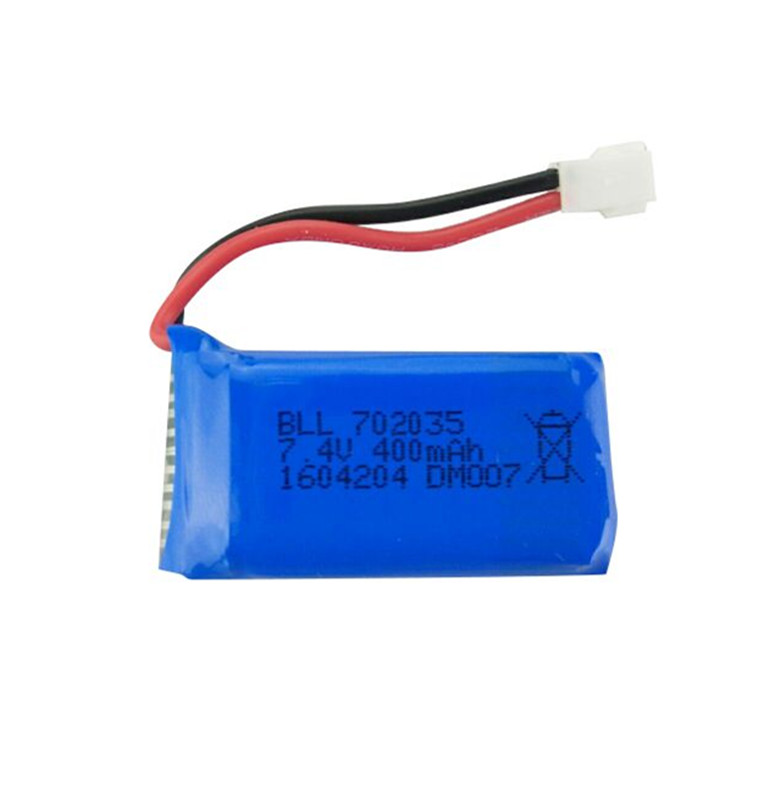 BLL <font><b>Battery</b></font> Brand Original DM007 RC Part <font><b>400mAh</b></font> 25C <font><b>Lipo</b></font> <font><b>Battery</b></font> <font><b>7.4V</b></font> 2s for DM007 RC Quadcopter Parts image
