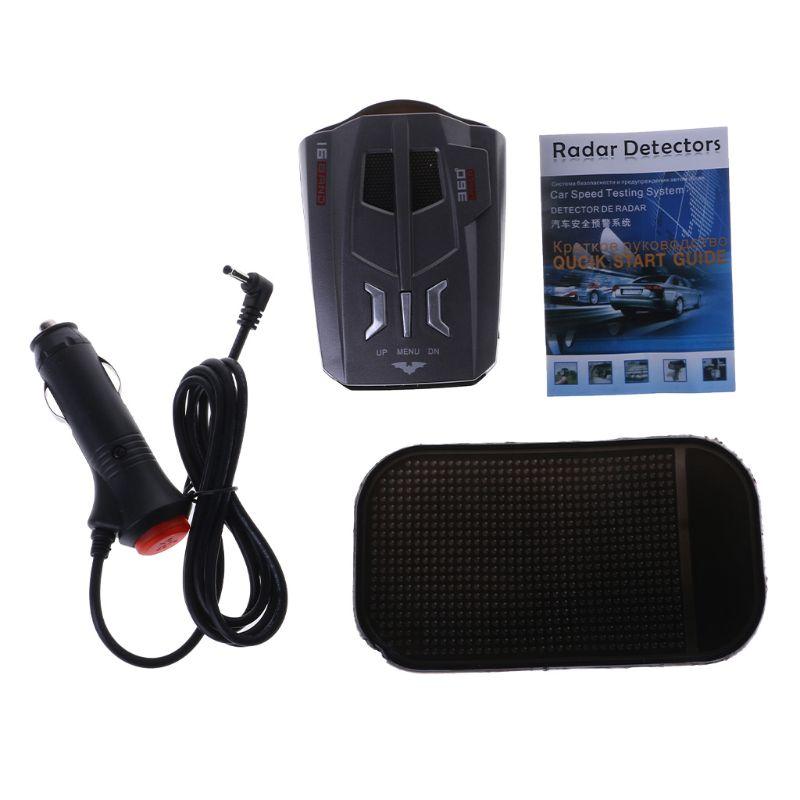 V9 Car Trucker Speed 360 Degrees Vehicle Radar Detector Voice Alert Warning 16 Band Auto LED Display English / Russian versioM77