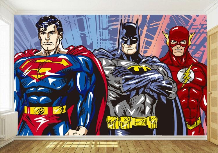 Aliexpress.com : Buy Custom 3D Wall Murals Batman Superman Flash ...