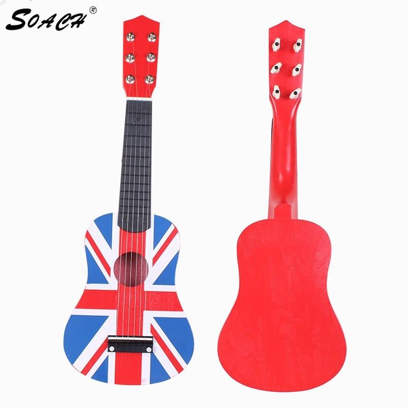 "SOACH 고품질 Guitarra Red 영국 국기 신고 Professional 21 ""어쿠스틱 뮤직 6 스틸 스트링베이스 기타 음향"