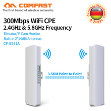 3-5KM Powerful 300Mbps 5.8G Outdoor Access Point 2*14 WI-FI Antenna repeater wireless bridge CPE Nanostation wifi for IP camera 300mbps 2 4ghz outdoor access point 2 14dbi wi fi antenna wireless bridge wifi cpe nanostation wi fi antenna signal amplifier
