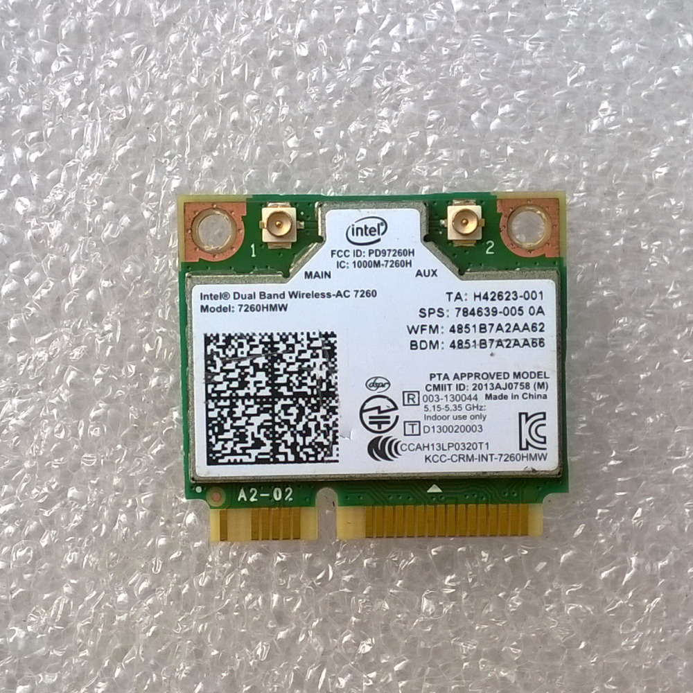 Int Dual Band Wireless AC 7260 7260HMW For ENVY 17 Notebook PC Series sps 784639 005