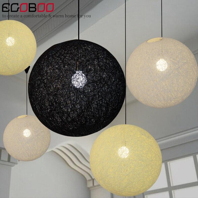 EGO di Canapa lampadario palla rattan intrecciato sfera creativa  contemporanea illuminazione moderna semplice finestra di illuminazione  della lampada E27