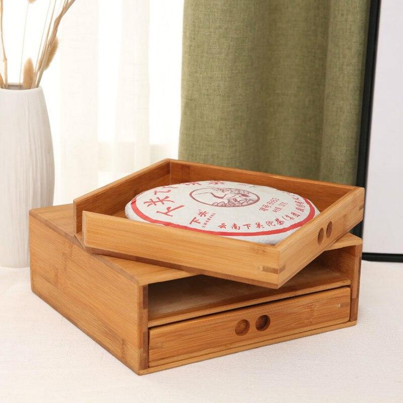 Натуральный Бамбук Пуэр Чайная канистра коробка деревянный цвет чайный лоток кунг фу набор чайная посуда A