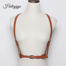 HATCYGGO Fashion Women Belt Slim Leather Female Straps Harness Body Bondage Belts Adjustable Metal Buckle Waistband