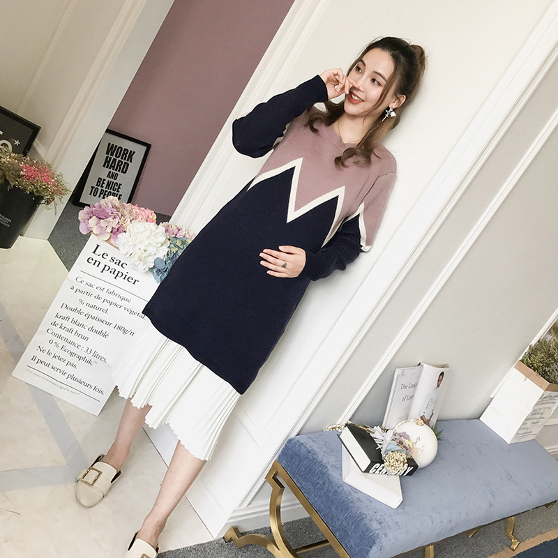 2018 summer soft knitted cotton maternity dress & clothes for pregnant women pregnancy clothing women pregnant dress