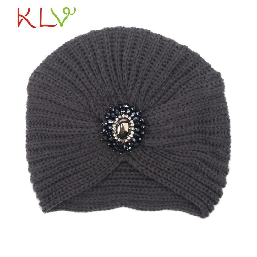 Skullies & Beanies Fashion Womens Winter Warm Knit Crochet Soft Hat Braided Turban Headdress Cap  Y8073 skullies