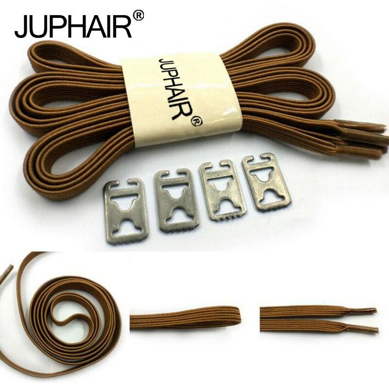 JUP 1-50 Pair Lock Laces Elastic No Tie Shoelaces Brown Adult Kids Sneakers Metal Buckle Shoelaces Sport Athletic Laces Strings