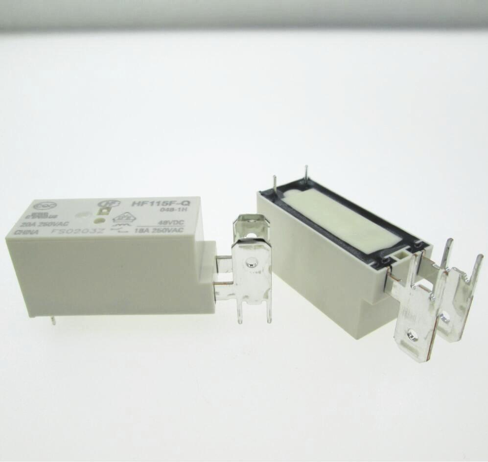 NEW relay HF115F-Q-048-1H HF115F-Q 048-1H JQX-115F-Q 048-1H JQX-115F-Q-048-1H 48VDC 48V DC48V 20A 250VAC hot new nf4eb 48v nf4eb 48v 48vdc dc48v dip15