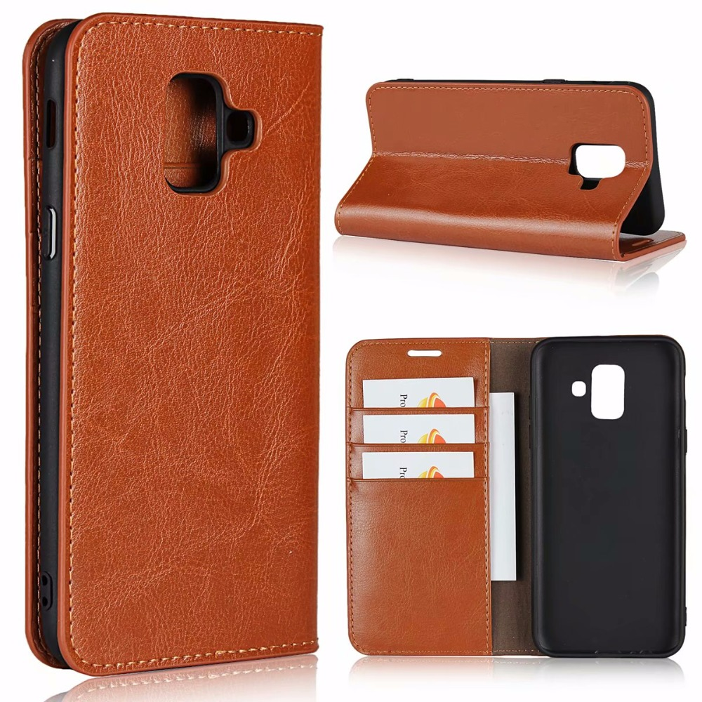 Second Layer Genuine Cow Leather Stands Phone Case For Galaxy Note9/J6(2018)/A6(2018)/A6 Plus(2018)/Galaxy A8 A9 Star,Oppo A7 iphone xs 財布