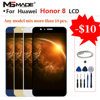 For Huawei Honor 8 FRD L19 FRD L09 LCD Screen Display Digitizer Replacement Assembly Parts With Frame 100% Tested