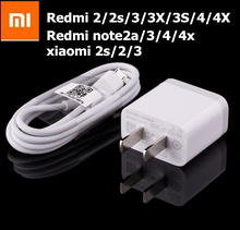 Original xiaomi redmi note 4 Charger 5V/2A Usb Wall charge Adapter &Data Cable For Redmi 2/2s/3/3X/3S/4/4X Redmi Note 2a/3/4
