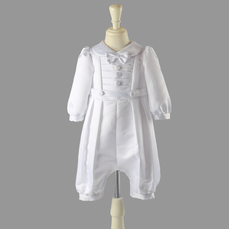 Nimble white baby boy newborns clothes broadcloth single breasted solid full sleeve baby set baby girl newborns clothes vestidos