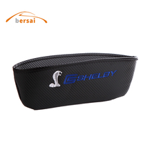 carbon fiber Seat Crevice Storage Box Bag car styling SHELBY Logo For Ford Belle F150 Mustang GT350 GT500 JEEP Auto accessories printio ford mustang shelby gt500 eleanor 1967